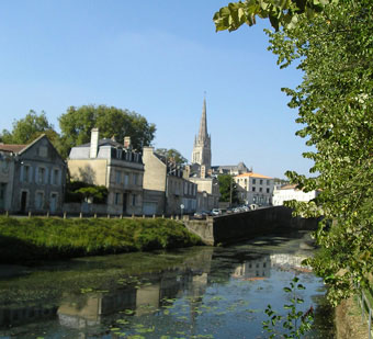 Local Attractions. Fontenay le Comte viewed from the Vendée river