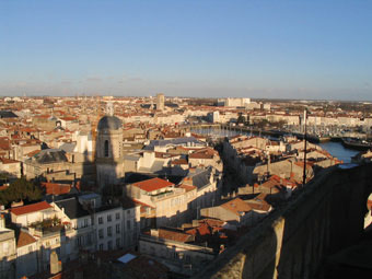 Local Attractions. View of La Rochelle from one of the Quatre Sergents