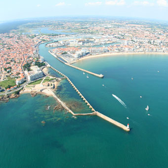 Local Attractions. Aerial view of Les Sables d'Olonne