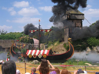 Local Attractions: A scene from the Vikings at the Puy du Fou