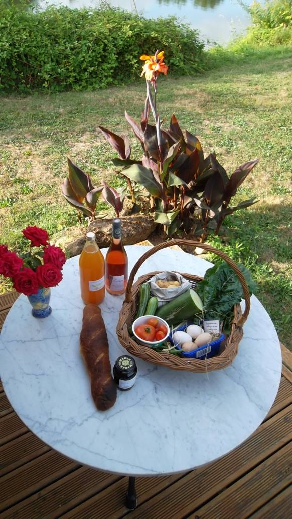 All guests are provided with a welcome basket on arrival at The Good Life in France glamping lodges